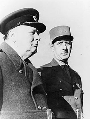Winston Churchill si Charles de Gaull la Marrakech, 1944
