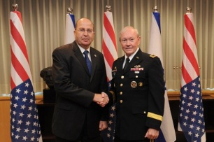 DEFENSE MINISTER YAALON MEETS WITH US COUNTERPART DEMPSEY